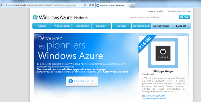 Les pionniers de Windows Azure vus par Microsoft France