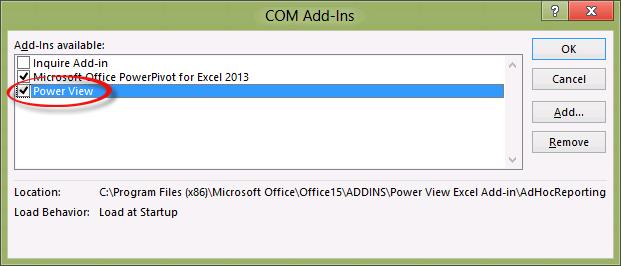 Présentation de Power View pour Excel 2013 (4/6)