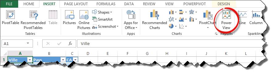 Présentation de Power View pour Excel 2013 (6/6)