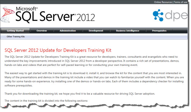 Developers Training Kit