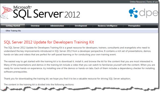 Developers Training Kit