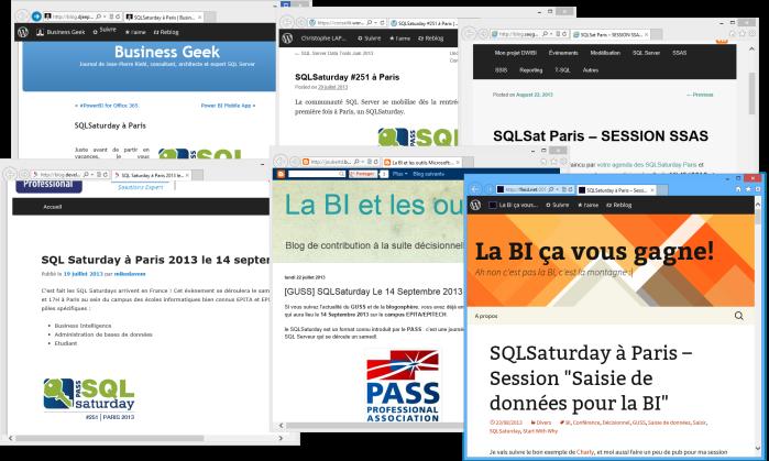 Blogs SQLSaturday Paris
