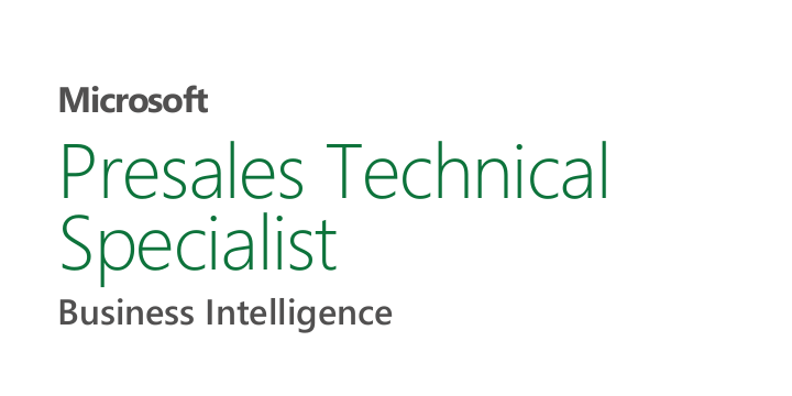 Microsoft Presales Technical specialist Business Intelligence