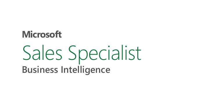 Microsoft Sales Specialist Business Intelligence